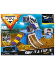 Игрален комплект Spin Master Monster Jam - Ship it & Flip it -1