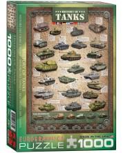Пъзел Eurographics от 1000 части –  Историята на танковете -1