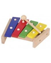 Детски музикален инструмент Goki - Дървен ксилофон, малък -1