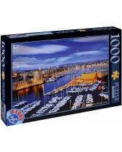 Пъзел D-Toys от 1000 части - Марсилия, Франция -1