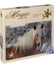 Пъзел D-Toys от 239 части - Магията на конете, Хафлингер I, Едита Троянска -1