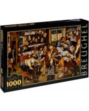 Пъзел D-Toys от 1000 части – Плащането на десятък, Питер Брьогел Млади -1