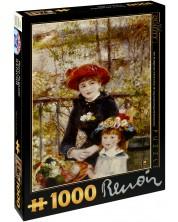 Пъзел D-Toys от 1000 части – Две сестри (На терасата), Пиер Реноар
