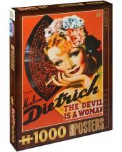 Пъзел D-Toys от 1000 части - Марлене Дитрих -1