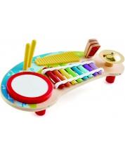 Детска музикална маса Hape - 5 музикални инструмента, от дърво -1