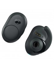 Слушалки с микрофон Skullcandy - Push True Wireless, dark gray/black -1