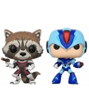 Комплект фигури Funko Pop! Games: Rocket VS Mega Man X - 2 броя