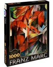 Пъзел D-Toys от 1000 части – Лисиците, Франц Марк