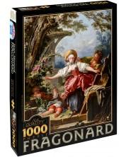 Пъзел D-Toys от 1000 части – Игра на сляпа баба, Жан-Оноре Фрагонар -1