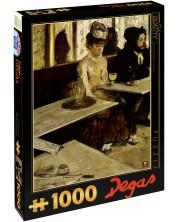 Пъзел D-Toys от 1000 части - В кафенето (Пиячи на абсент), Едгар Дега
