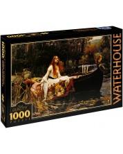 Пъзел D-Toys от 1000 части – Дамата от Шалот, Джон Уилям Уотърхаус