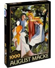 Пъзел D-Toys от 1000 части - Четири момичета, Аугуст Маке
