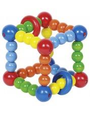 Бебешка дрънкалка Heimess - Зар, еластична -1