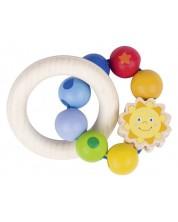 Бебешка дрънкалка Heimess Soft Colors - Слънце -1