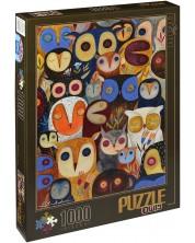 Пъзел D-Toys от 1000 части – Бухали, Андреа Кюрти II