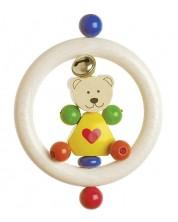 Бебешка дрънкалка Heimess - Мече със сърце -1