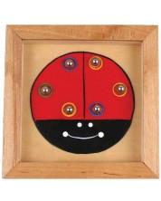 Дървена игра за сръчност с топчета Pino - Калинка -1