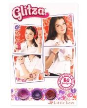 Брокат Glitza - 80 дизайна сърца, 3 цвята