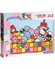Пъзел Clementoni от 24 макси части - Hello Kitty