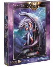 Пъзел Clementoni от 1000 части - Повелителката на дракони, Ан Стоукс -1