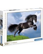 Пъзел Clementoni от 500 части - Фрезийски черен кон