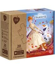 Пъзел Clementoni от 2 x 20 части - Замръзналото кралство 2 -1