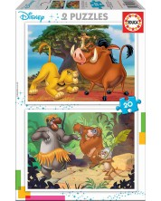 Пъзел Educa от 2 x 20 части - Животни-приятели -1