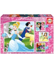 Пъзел Educa 4 в 1 - Дисни принцеси -1
