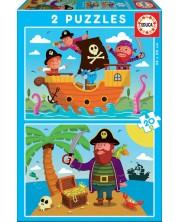 Пъзел Educa от 2 x 20 части - Пирати -1