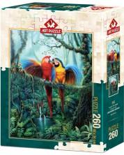 Пъзел Art Puzzle от 260 части - Любовта в Джунглата