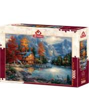 Пъзел Art Puzzle от 3000 части - Есенно отражение, Чък Пинсън