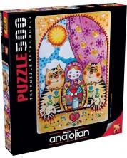 Пъзел Anatolian от 500 части - Матрьошки, Оксана Зайка -1