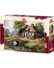 Пъзел Art Puzzle от 500 части - Къща сред зеленината, Рент Уитхар