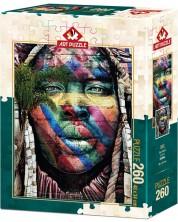 Пъзел Art Puzzle от 260 части - Графити, Сао Пауло -1