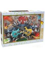 Пъзел Gold Puzzle от 1500 части - Музикални графити -1