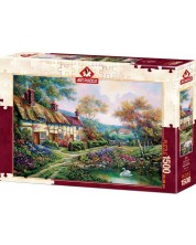 Пъзел Art Puzzle от 1500 части - Пролетна градина, Карл Валенте