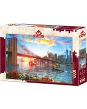 Пъзел Art Puzzle от 1000 части - Залез над Ню Йорк