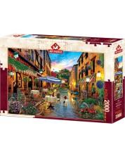 Пъзел Art Puzzle от 2000 части - Колоездене през Италия, Дейвид М.