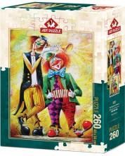 Пъзел Art Puzzle от 260 части - Клоуни музиканти