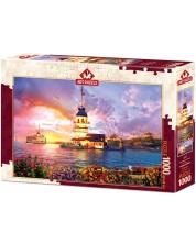 Пъзел Art Puzzle от 1000 части - Момина кула, Истанбул -1