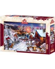 Пъзел Art Puzzle от 1000 части - Зимно забавление, Дейвид М. -1