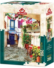 Пъзел Art Puzzle от 260 части - Двор с цветя