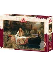 Пъзел Art Puzzle от 2000 части - Дамата от Шалот, 1888