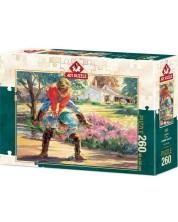 Пъзел Art Puzzle от 260 части - Игра на Прескочи кобила -1