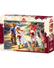 Пъзел Art Puzzle от 500 части - По-бързо, конче! -1