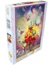 Пъзел Gold Puzzle от 1500 части - Парти в гората -1