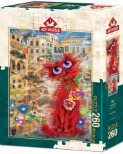 Пъзел Art Puzzle от 260 части - Червената котка