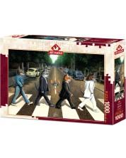 Пъзел Art Puzzle от 1000 части - Котки на пешеходната пътека, Дон Рот