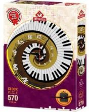 Пъзел-часовник Art Puzzle от 570 части - Ритъмът на времето