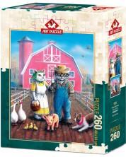 Пъзел Art Puzzle от 260 части - Котешка ферма